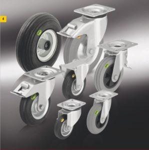 Колеса и ролики с цельнолитой шиной