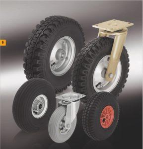 Колеса и ролики с пневматической шиной