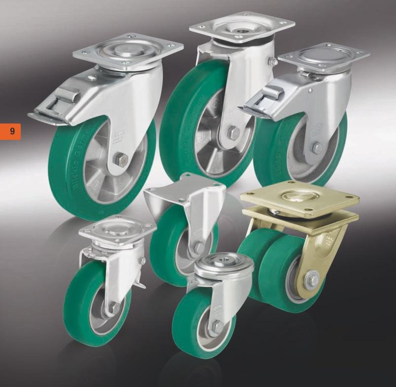 Большегрузные колеса и ролики полиуретановым контактным слоем Blickle Softhane