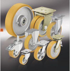 колеса и ролики с литым полиуретановым контактным слоем Blickle Extrathane