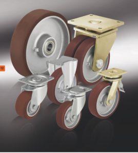 Большегрузные колеса с полиуретановым контактным слоем