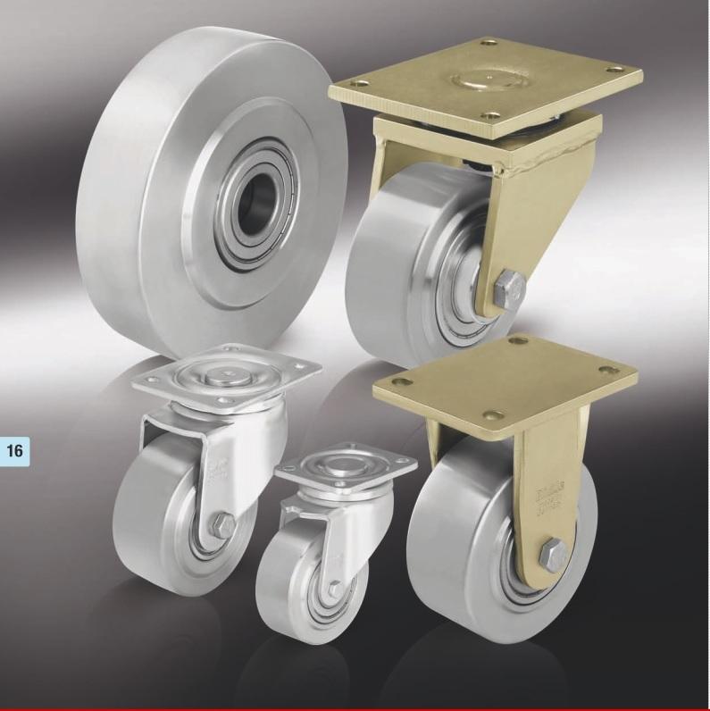 Особо-большегрузные колеса и ролики из стали