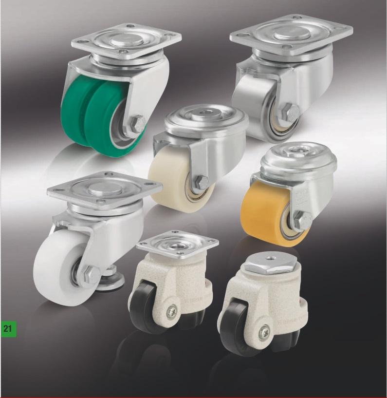 Компактные колеса и ролики с подъемником