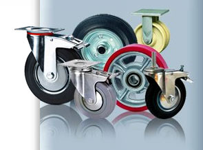 Область применения колес и роликов.