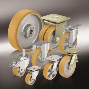 Большегрузные колеса и ролики с литым полиуретановым Blickle Extrathane