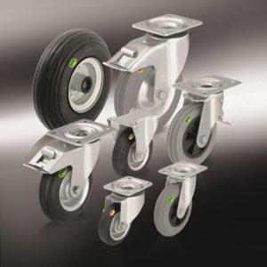 Колеса и ролики с цельнолитой шиной из мягкой резины и двухкомпонентной цельнолитой резиновой шиной (4)