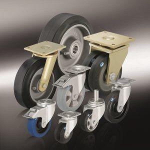 Большегрузные колеса и ролики с супреэластичной цельнолитой резиновой шиной (5)