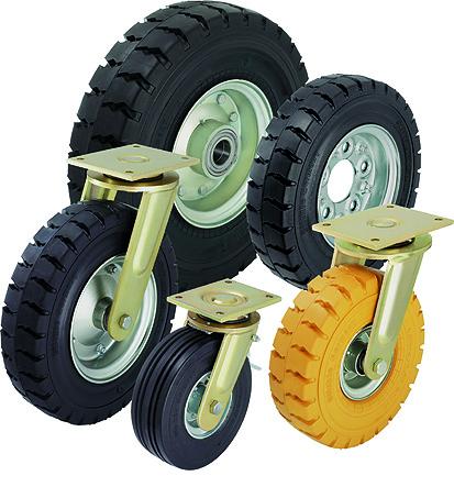 Выбор пневматических колес для тележек