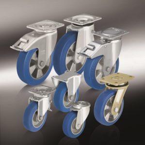 (10) Большегрузные колеса и ролики с литым полиуретановым контактным слоем Blickle Besthane Soft