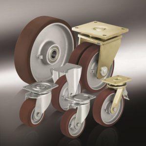 (12) Большегрузные колеса с полиуретановым контактным слоем Blickle Besthane®, с основанием колеса из стали или чугуна