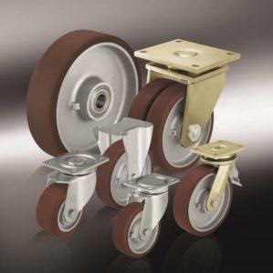 Большегрузные колеса с полиуретановым контактным слоем Blickle Besthane®,с основанием колеса из стали или чугуна