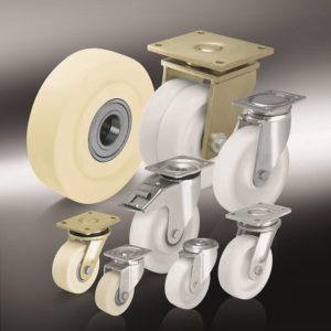 (14) Большегрузные колеса и ролики из полиамида