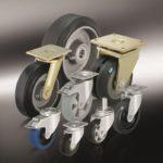 (5) Большегрузные колеса и ролики с супреэластичной цельнолитой резиновой шиной