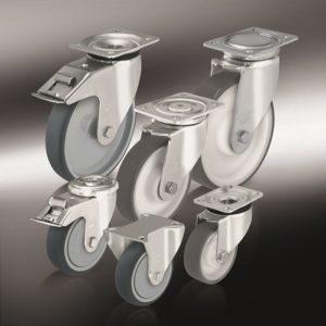 (8) Колеса и ролики с изготовленным методом литья под давлением полиуретановым контактным слоем