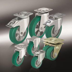 (9) Большегрузные колеса и ролики с литым полиуретановым контактным слоем Blickle Softhane