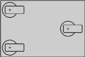 три поворотных ролика