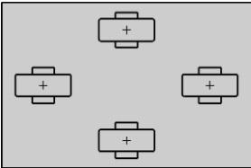 четыре фиксированных ролика