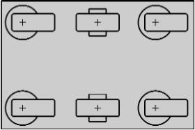 четыре поворотных и два фиксированных ролика