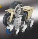 колеса и ролики с эластичной цельнолитой резиновой шиной