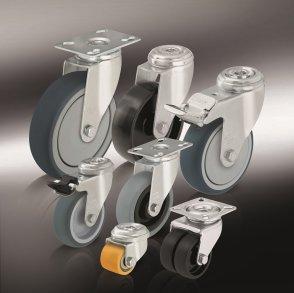 Аппаратные колеса для тележек и ролики