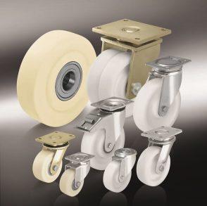 Большегрузные колеса и ролики из полиамида