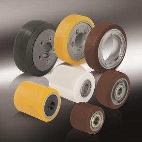 Колёса и ролики для гидравлических тележек, погрузчиков и другого подъёмно-транспортного оборудования