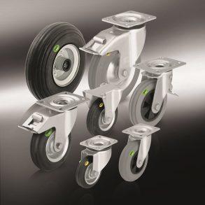 (4) колеса и ролики из мягкой резины