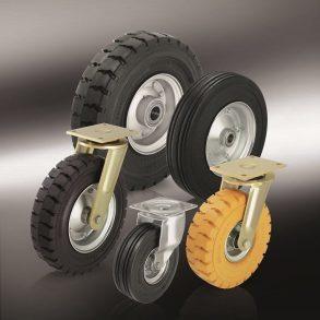 (7) колеса с эластичной резиновой шиной
