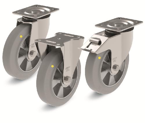 Антистатические колёса и ролики Вlickle для транспортных тележек