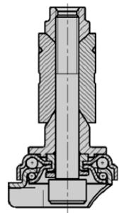раздвижной металлической цапфой