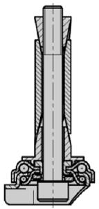 раздвижной пластмассовой цапфой