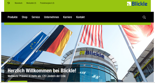 Сайт фирмы Blickle